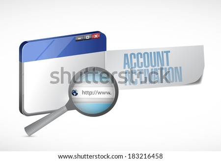 account activation web browser illustration design over a white background