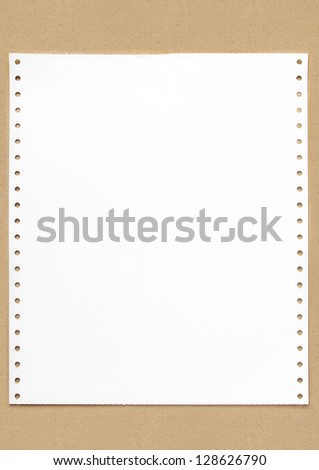 Account Paper on the Recycled Paper - stock photo