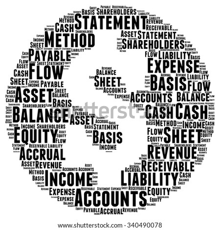 Account Word Cloud Illustration In Currency Shape