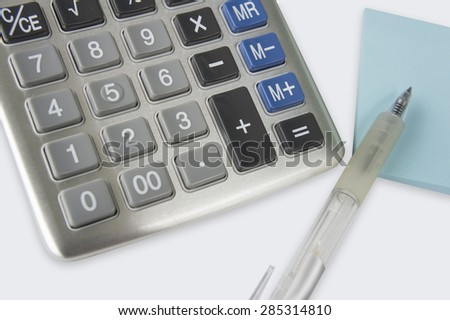 accounting add number surplus calculator calculation  - stock photo