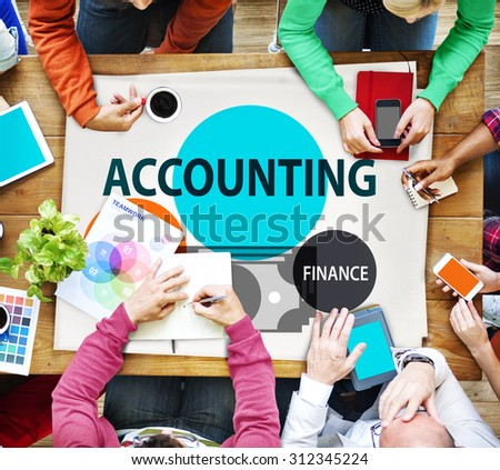 Accounting Audit Finance Economic Capital Concept - stock photo