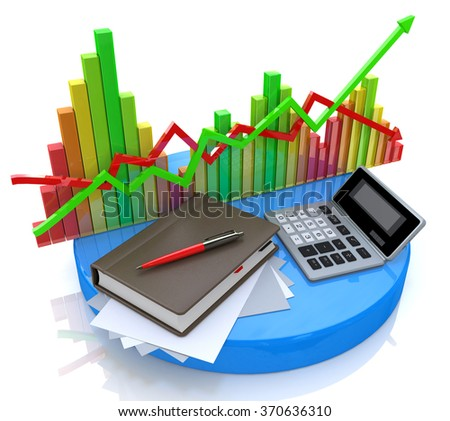 Accounting - Business calculation in the design of information related to business and economy - stock photo