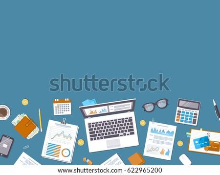 Accounting Concept Financial Analysis Analytics Data Vector – Financial Analysis