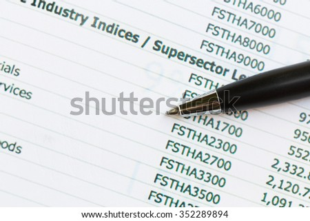 Accounting figures,Business concept - stock photo