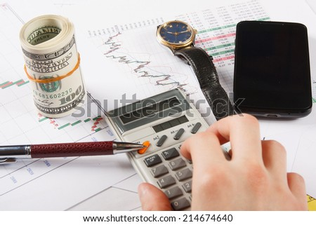 Accounting job - stock photo