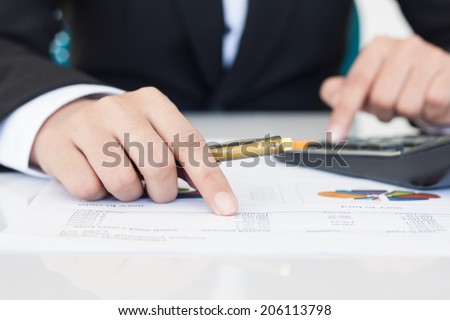 accounting or finance concept - stock photo