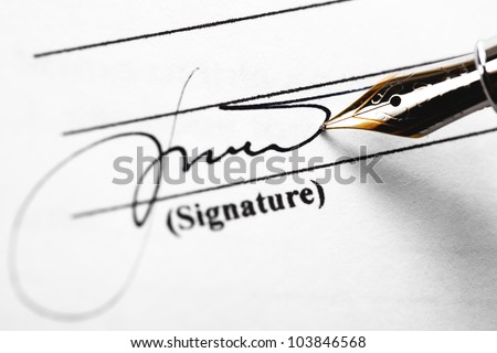 Accounting.The painting on a white sheet of paper, pen pen - stock photo