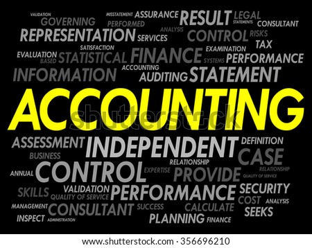 ACCOUNTING word cloud, business concept - stock photo