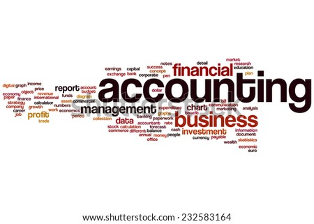 Accounting word cloud concept - stock photo