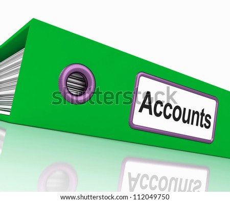 Accounts File Showing Accounting Profit And Expenses