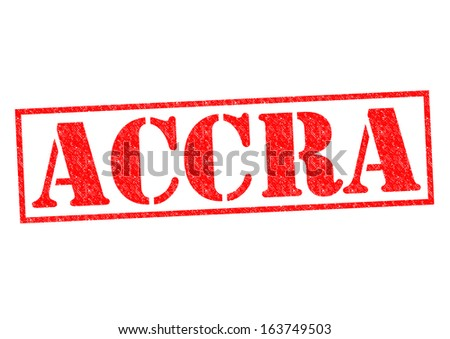 ACCRA (capital of Ghana) rubber stamp over a white background.