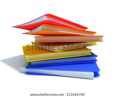 Accumulate folders with documents - stock photo