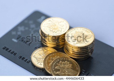 Accumulation of gold on the bank card