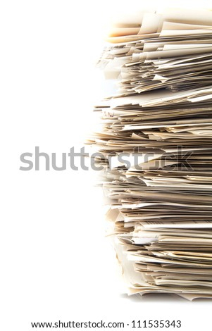 Accumulation of office work to be carried out