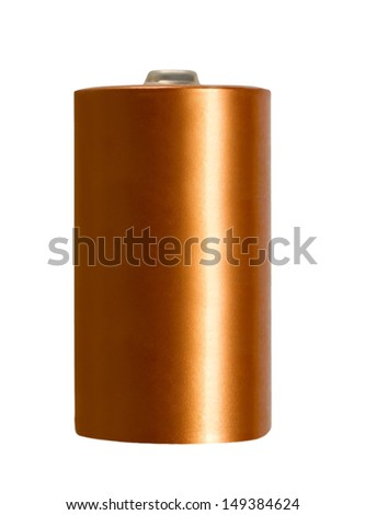 accumulator alkaline battery object isolated on white background - stock photo