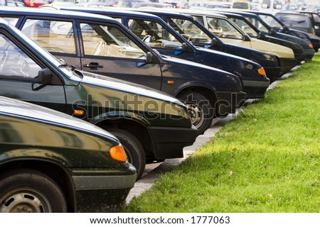 accurate parking - stock photo