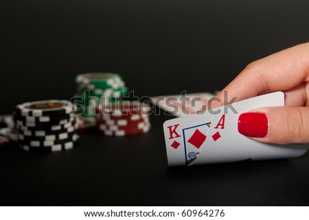 Ace and King of Diamonds - stock photo