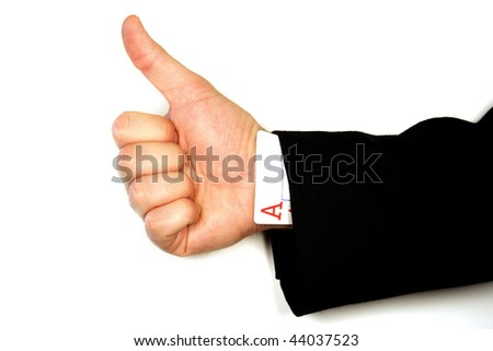 Ace Up the Sleeve - stock photo