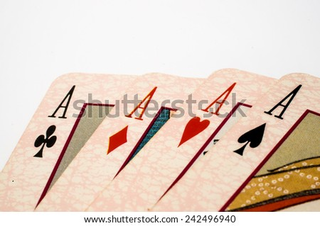 Ace with white background  - stock photo