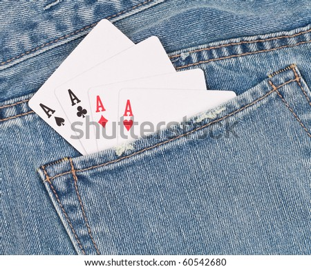 Aces in The Back Pocket - stock photo