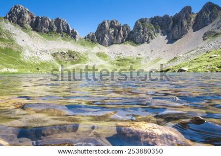 Acherito lake, Pyrenees (Spain) - stock photo