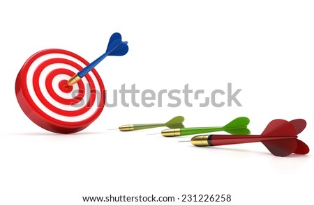 achieve the goal - stock photo