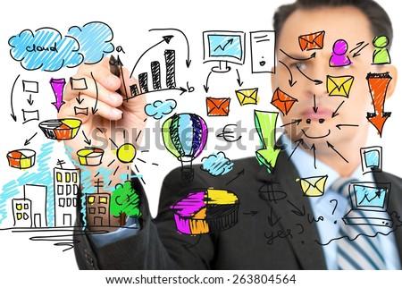 Achievement, aspirations, business. - stock photo