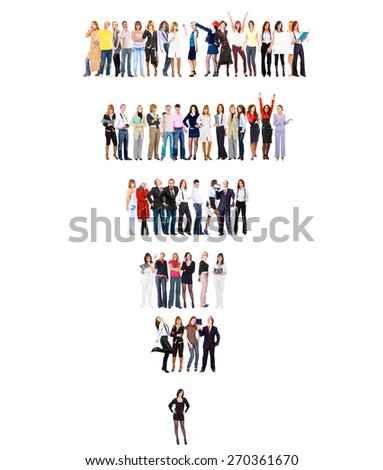 Achievement Idea Standing Together  - stock photo