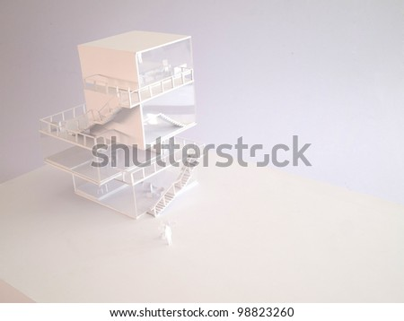 achitectural model, japanese style - stock photo