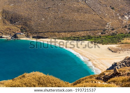 Achla beach, Andros, Greece