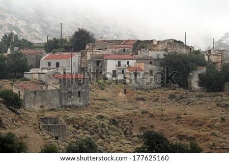 Achlada (inhabitants 119 in 2001) is a village in the Cretan municipality of Malevizi, and belongs to the municipal unit of Gazi, in Heraklion regional unit. - stock photo
