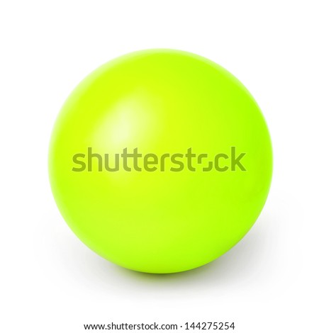 Acid green ball isolated on a White background with clipping path - stock photo