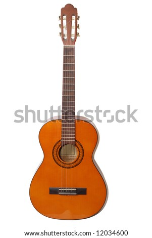 Acoustic classical guitar - clipping path included