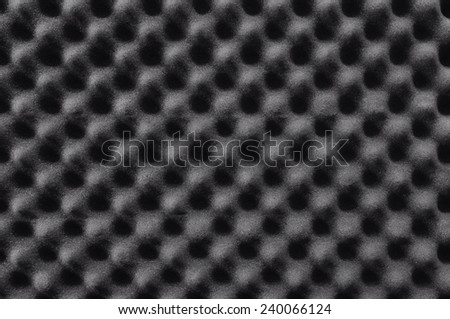 Acoustic foam wall - stock photo