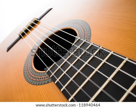 Acoustic guitar. Abstract background. - stock photo