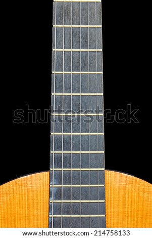 Acoustic guitar abstract . Close up