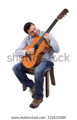 Acoustic guitar guitarist man classical