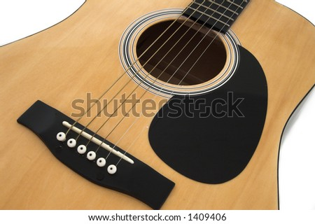 Acoustic guitar II - stock photo
