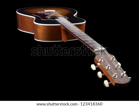 Acoustic Guitar in black back