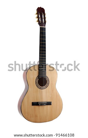 Acoustic guitar. isolated