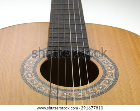 acoustic guitar particular - stock photo