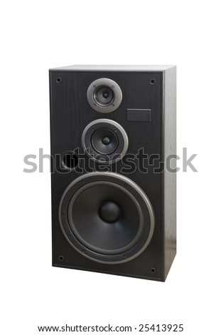 Acoustic isolated - stock photo