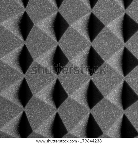 Acoustic Treatment made from Foam Rubber, Background, Texture - stock photo