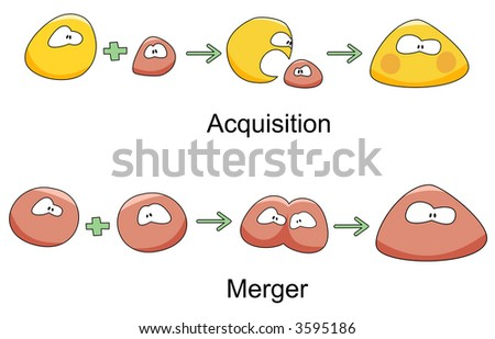 Acquisition and Merger - stock photo