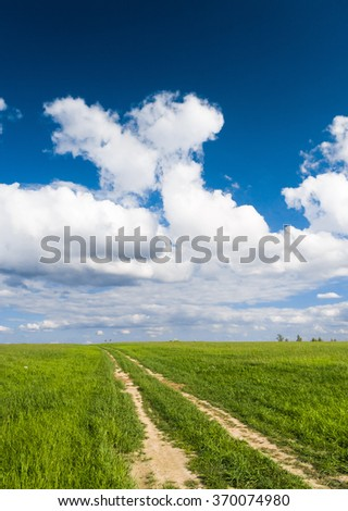 Acres Wild Vibrant Colors  - stock photo