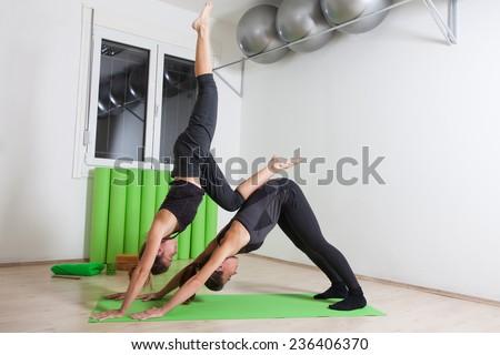 Acro Yoga - stock photo