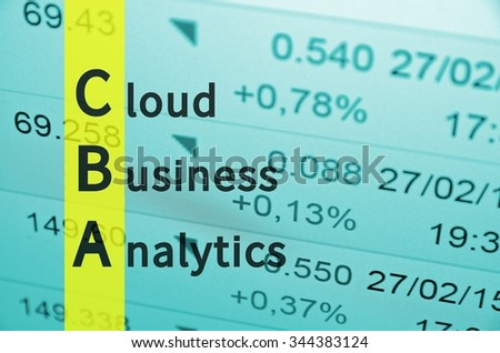 Acronym CBA as Cloud Business Analytics