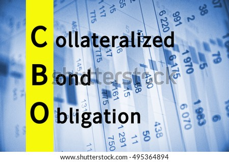 Acronym CBO as Collateralized bond obligation