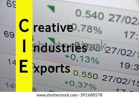 Acronym CIE as Creative Industries Exports
