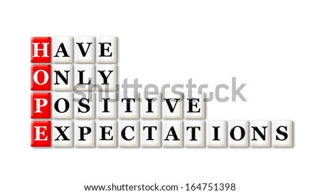 Acronym concept of Hope and other releated words - stock photo